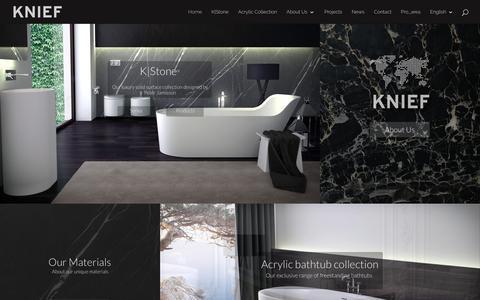 Screenshot of Home Page kniefco.com - Home - KniefCo - captured Oct. 29, 2018