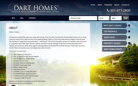 Screenshot of About Page darthomes.com - About | Dart Homes - captured Oct. 26, 2014
