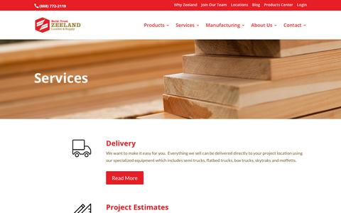 Screenshot of Services Page zeelandlumber.com - Home Improvement Services - Zeeland Lumber & Supply - captured Nov. 12, 2019