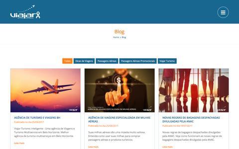 Screenshot of Blog viajarturismo.com.br - Melhor Blog de Viagens de Belo Horizonte - captured Oct. 25, 2017