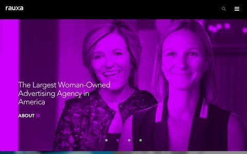 Screenshot of Home Page rauxa.com - Full-Service Marketing Agency Rauxa | - captured Dec. 23, 2016