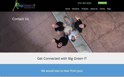 Screenshot of Contact Page biggreenit.com - Big Green IT Contact Us - captured Jan. 3, 2016