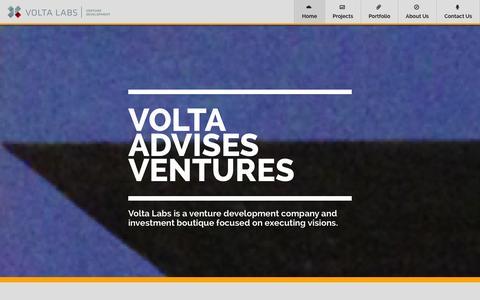 Screenshot of Home Page volta.is - Volta - Venture Development - captured Oct. 7, 2014