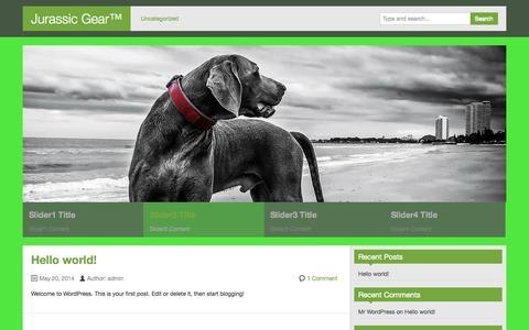 Screenshot of Home Page jurassicgear.com - Jurassic Gear™   Created by Nick - captured Sept. 30, 2014