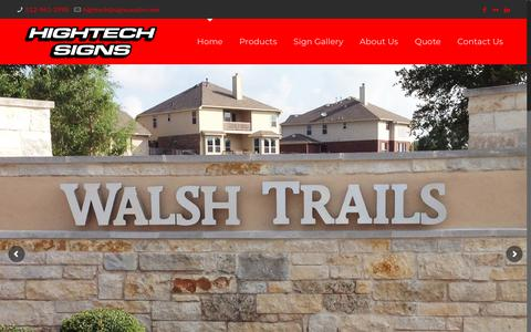 Screenshot of Home Page signsaustin.com - Sign Designs | Corporate Signage | Austin | Hightech Signs - captured Sept. 28, 2018