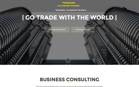 Screenshot of Home Page tradecomex.com - TradeComEx | :: Go Trade With The World :: - captured Jan. 12, 2016