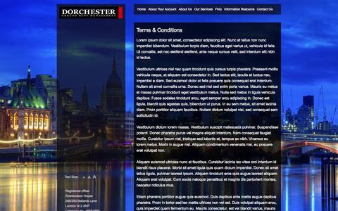Screenshot of Terms Page dorchestergrm.com - Terms & Conditions | Dorchester Ground Rent Management - - captured Sept. 30, 2014