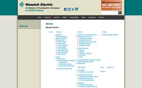Screenshot of Site Map Page wasatchelectric.com - Wasatch Electric | Sitemap - captured Nov. 10, 2017