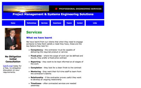 Screenshot of Services Page galanos.com.au - Untitled Document - captured Oct. 3, 2014