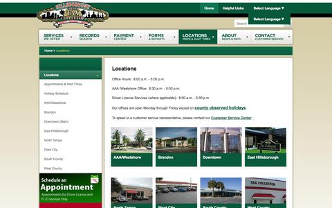 Screenshot of Locations Page hillstax.org - Locations - captured Sept. 23, 2014
