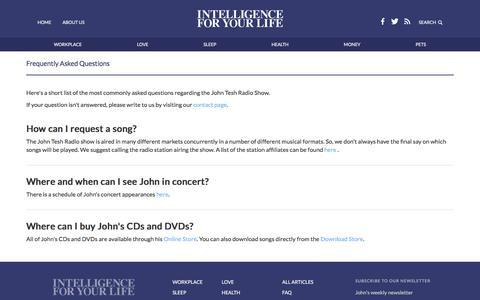 Screenshot of FAQ Page tesh.com - Intelligence For Your Life - captured Nov. 30, 2016