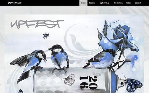 Screenshot of Home Page upfest.co.uk - Europe's largest Street Art & Graffiti festival | Upfest - captured May 13, 2016