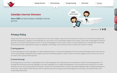 Screenshot of Privacy Page spango.com - Privacy Policy - captured Sept. 25, 2014
