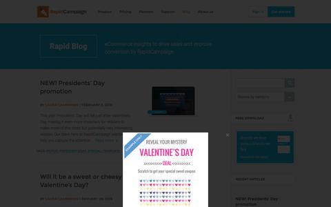 Screenshot of Blog rapidcampaign.com captured Feb. 9, 2016