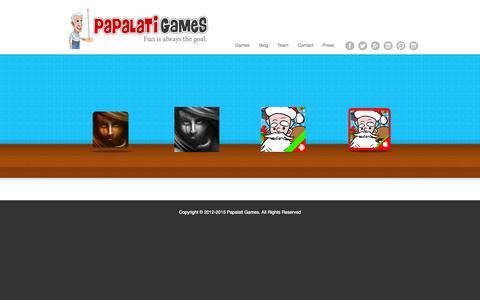 Screenshot of Home Page papalatigames.com - Home - Papalati Games - captured July 18, 2015