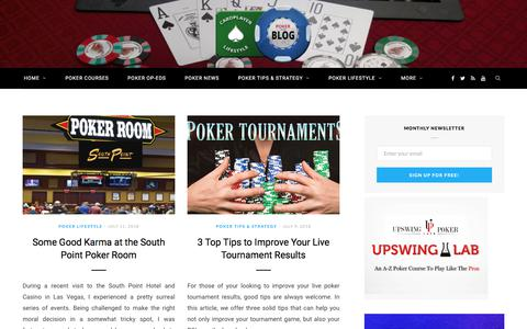 Screenshot of Home Page cardplayerlifestyle.com - Poker Blog, Interviews, Op-Eds, Lifestyle & Strategy - captured July 15, 2018