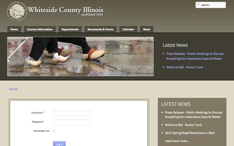 Screenshot of Login Page whiteside.org - County Employee Login - captured Aug. 13, 2015