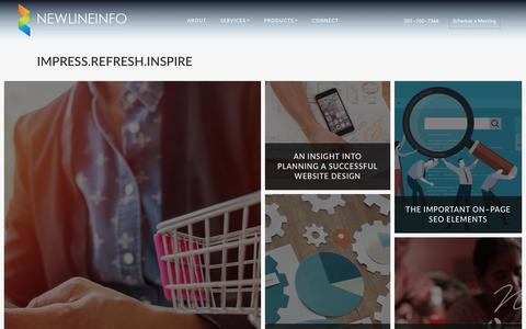 Screenshot of Blog newlineinfo.com - Newlineinfo | Blog - captured Oct. 18, 2018