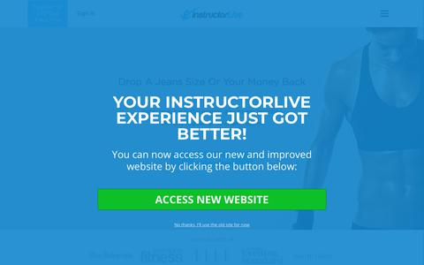 Screenshot of Home Page instructorlive.com - InstructorLive - captured Sept. 19, 2018