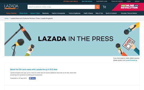 Lazada News and Customer Reviews | Press | Lazada Singapore