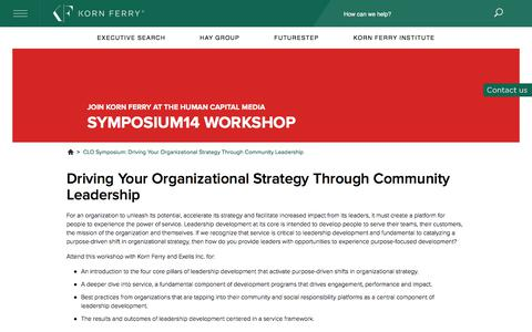 CLO Symposium: Driving Your Organizational Strategy...