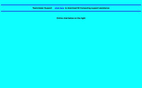 Screenshot of Support Page 92computing.com.au - Teamviewer Support     click her - captured June 29, 2018
