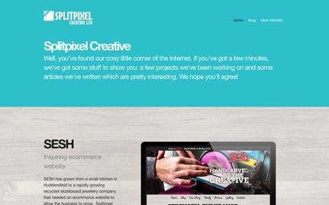 Screenshot of Blog splitpixel.co.uk - Splitpixel Web Design | Digital Blog | Branding, web design and development and all things digital! - captured Oct. 6, 2014