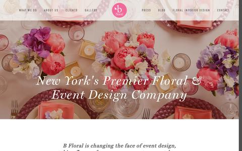 Screenshot of Home Page bfloral.com - B Floral - captured Oct. 18, 2016