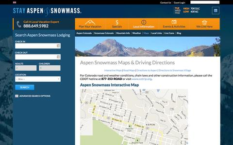 Screenshot of Maps & Directions Page stayaspensnowmass.com - Aspen Snowmass Maps & Driving Directions - captured Sept. 23, 2014