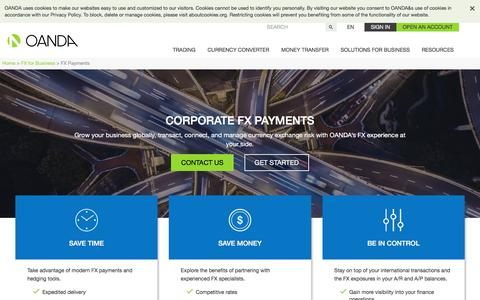 Corporate FX Payments                OANDA