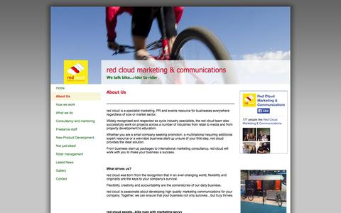 Screenshot of About Page redcloudmc.com - Red Cloud Marketing & Communications - About Us - captured Oct. 6, 2014