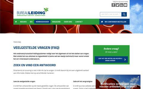 Screenshot of FAQ Page bureauleiding.nl - FAQs - Bureauleiding - captured Aug. 4, 2018