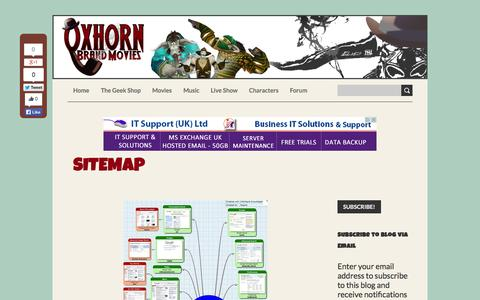 Screenshot of Site Map Page oxhorn.com - Sitemap - captured Oct. 9, 2014