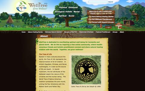 Screenshot of About Page welltree.org - About - WellTree - Grow Wellness! - captured Nov. 4, 2014