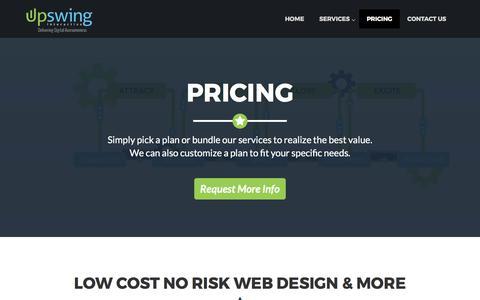 Screenshot of Pricing Page upswinginteractive.com - Upswing     Pricing - captured June 26, 2017