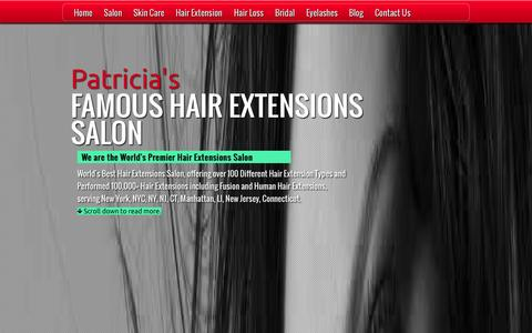 Screenshot of Home Page nychairsalon.com - Hair Extensions - World Famous Hair Extension Salon - captured Oct. 2, 2014