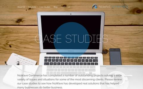 Screenshot of Case Studies Page nuwavecommerce.com - Case Studies | NuWave Commerce - captured Sept. 30, 2014