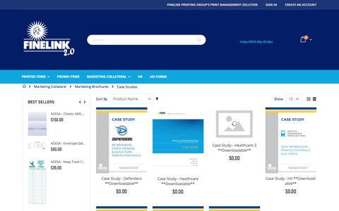 Screenshot of Case Studies Page finelink.com - Case Studies - captured July 10, 2018