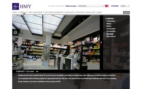 Screenshot of Team Page hmy-group.com - HMY - Company - Our Team - captured Nov. 1, 2014