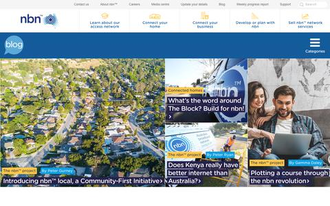 Screenshot of Blog nbnco.com.au - Blog | nbn - Australia's new broadband access network - captured Oct. 12, 2017