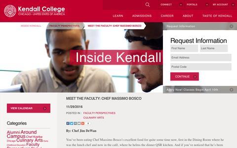 Screenshot of Blog kendall.edu - Meet the faculty: Chef Massimo Bosco - Kendall College - captured Feb. 25, 2017