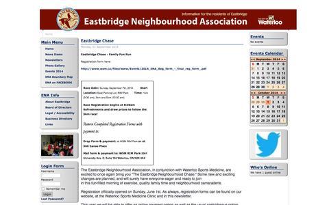 Screenshot of Menu Page eastbridge.info - Eastbridge Web Site - Home - captured Oct. 1, 2014