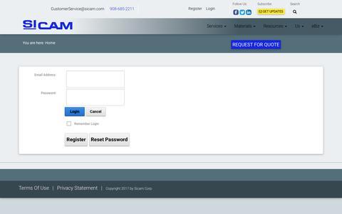 Screenshot of Login Page sicam.com - User Log In - captured Sept. 30, 2017