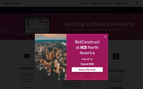 Screenshot of Products Page betconstruct.com - Jonathan says… - captured April 28, 2019