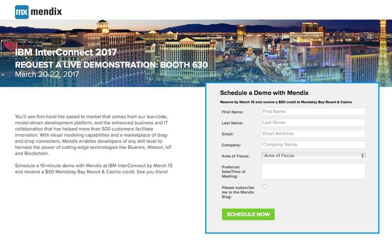 Visit Mendix at IBM InterConnect