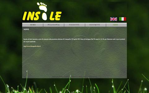 Screenshot of Press Page insole.it - NEWS - insole - captured Oct. 4, 2014