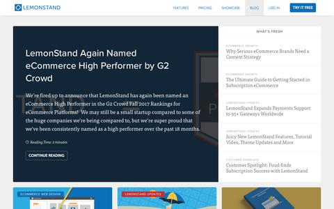 Screenshot of Blog lemonstand.com - The Best eCommerce Blog for Online Retailers by LemonStand - captured Nov. 14, 2017