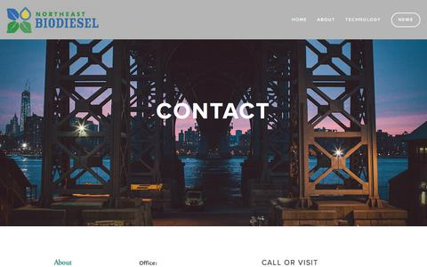 Screenshot of Contact Page northeastbiodiesel.com - Contact — Northeast Biodiesel - captured Nov. 14, 2017