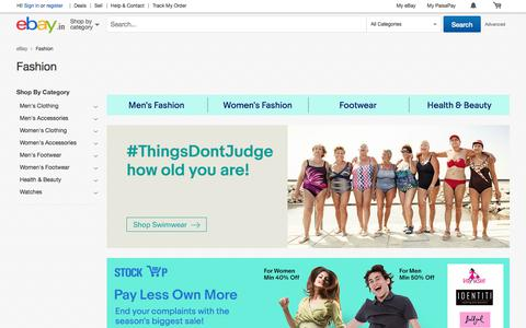 Screenshot of ebay.in - Shop with eBay India today for wide range of clothing, shoes, accessories, fragrance and personal care products at discounted prices.Find best deals on winter and wedding collection for men & women - captured July 16, 2017