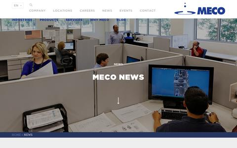 Screenshot of Press Page meco.com - News Archive - MECO - captured July 26, 2018